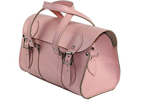 ANU® WC6in vera pelle borsa da donna, borsa a mano, borsa a tracolla, stile inglese, realizzato a mano in Inghilterra Rosa cipria