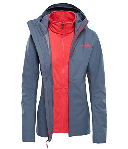 The North Face Damen Tanken Triclimate Jacke, Grisaille Grey/Atomic Pink, S Preisvergleich