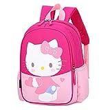 Rucksack für Kinder, süßes Cartoon-Schweinchen, für Mädchen und Jungen, Hello Kitty-pink-1 (Pink) - Hand-079