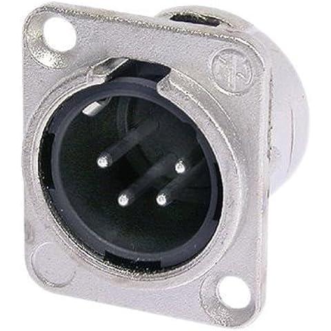 Neutrik nc4fd-l-14Pole macho receptáculo, vasos de soldadura, níquel carcasa, contactos de