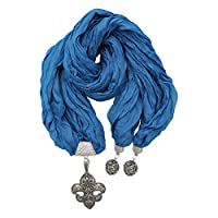Unique Fashion Scarf Pendant for Women, Dark Blue