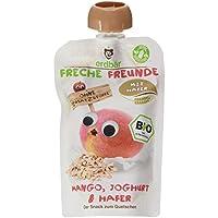 Freche Freunde Bio Quetschie Mango, Joghurt & Hafer 6-er Pack (6 x 100ml)