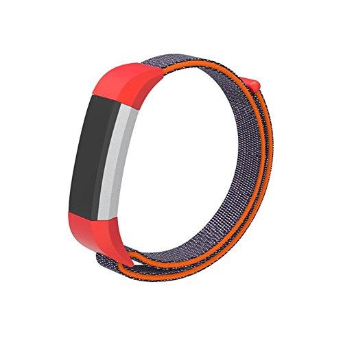 AUTOECHO Red Band Für Fitbit Ace Kids Smart Watch Mit Farbe Gewebt Nylon Atmungs Armband Armband Mit Metallschnalle Verstellbar Für Kinder
