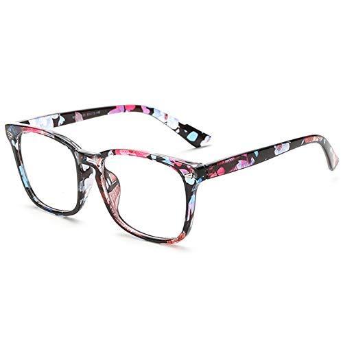 LANOMI Retro Nerdbrille Runde Brille Fensterglas Ohne Stärke Hornbrille Groß Damen Herren...