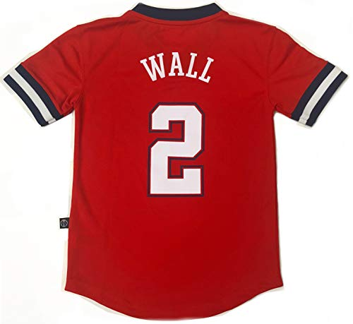 Outerstuff NBA Jungen Trikot, kurzärmlig, Spielername und Nummer, John Wall Washington Wizards, Youth X-Large 18-20