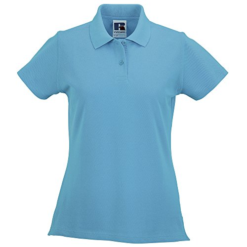 Russell - Polo 100% coton à manches courtes - Femme Turquoise