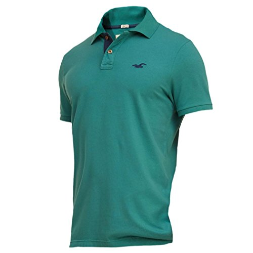 hollister-polo-polo-basic-maniche-corte-uomo-green-medium