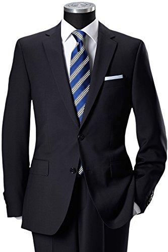 Zwei-knopf-anzug (Pierre Cardin 2-Knopf-Anzug aus feinem Marzotto Tuch nachtblau 26)
