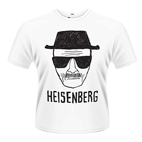 PHM Herren Breaking Bad Heisenberg Sketch T-Shirt, Weiß Blanc, Large