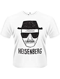 PHM Herren Breaking Bad Heisenberg Sketch T-Shirt, Weiß Blanc, 2XL
