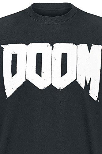 DOOM T-Shirt -M- Logo, schwarz schwarzes T-Shirt mit DOOM Logo