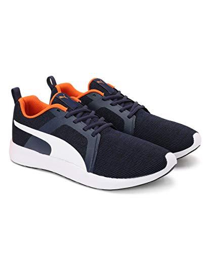 Puma Men's Frost IDP Peacoat-Orange-White Sneakers-10 UK (44.5 EU) (11 US) (37224304)