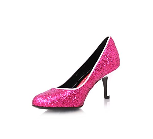 Disco Pumps Stiletto 7cm Fuchsia Glitzer (35)