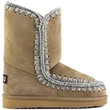 Mou botas mujer en ante nuevo marrón