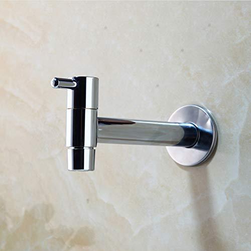 Polierte Chrom Wand (jukunlun Chrom Poliert Waschmaschine Wasserhahn Bad Einzigen Kalten Griff Wand Becken Waschbecken Wasserhahn Kaltwasserhahn)