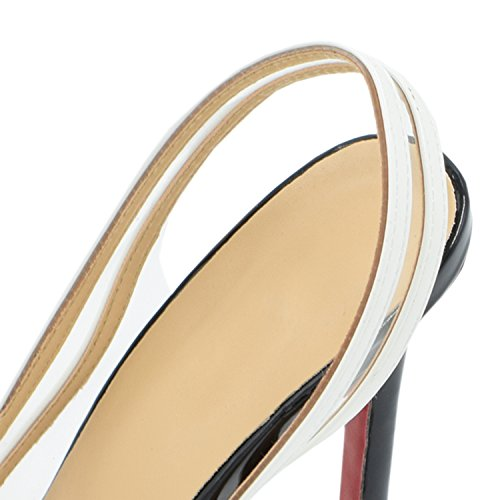Oasap Sexy Clear Summer Pointed Toe Stiletto High Heels golden