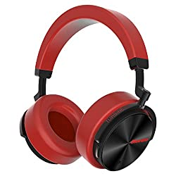 Bluedio T5 Active Noise Cancelling Wireless Bluetooth Headphones Portable Stereo Headsets With Mic For Phones & Music (Red)