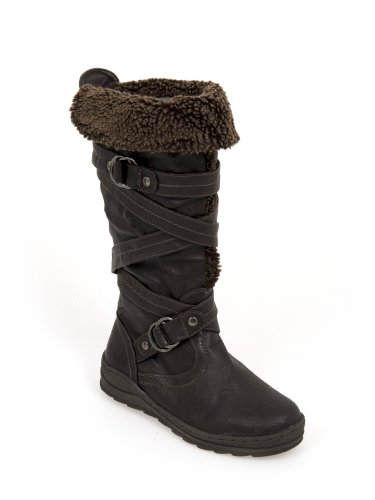 Pour Genou Haute Semelle avec doublure en fourrure Bonne prise en main Fashion Bottes d'hiver Marron