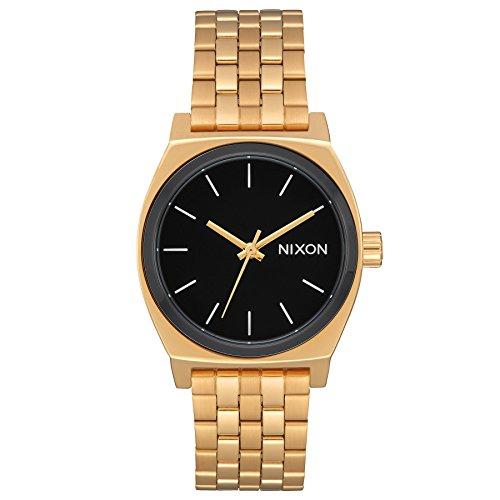 Nixon A1130222600 -  Reloj para Mujer Medium Time Teller 31mm, Oro/Neg