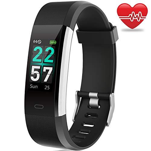 AIMIUVEI Pulsera de Actividad Inteligente, Pulsera Actividad Pantalla Color IP68 Pulsera Inteligente con Heart Rate GPS 14 Modos Deporte, Monitor de Actividad Reloj Fitness Tracker para Hombre Mujer
