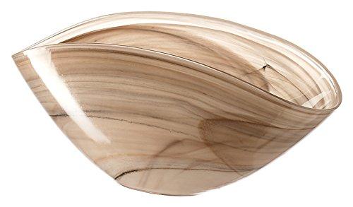 Leonardo 031216 Alabastro Coque 28 x 14 cm Verre, Beige, 14 x 28 x 12 cm