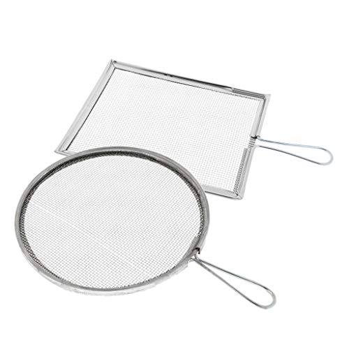 Pottery Ceramics Tools - 2pcs Filter Mesh Screen Strainers Steel Diy Crafts Sieves 2 Styles Can Choose With Handles - Ceramic Tools Ceramics Pottery Pottery Ceramics Glaze Color Ceramic M