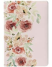 Lauret Blanc Designer Diary Notebook Unruled- A5, 144 Plain Pages Each, 80 GSM Natural Shade, Paperback (Floral1)