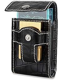 Noir cigarette Briquet Étui portefeuille avec support Taille Ceinture  Paquet de Cigarettes étui Boîte pour types df9a06a1119