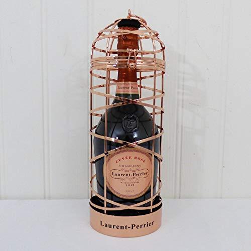Laurent-Perrier Rose Champagne Präsentiert in einem dekorativen Vogelkäfig - Geschenkideen für Valentinstag, Weihnachtsgeschenke, Geburtstag, Jubiläum und Corporate (Dekorative Vogelkäfige)