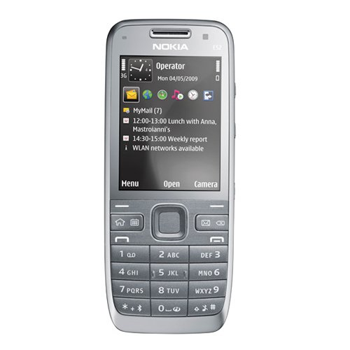 Nokia E52 metal grey aluminium (UMTS, GPS, A-GPS, WLAN, MP3, Bluetooth, Kamera mit 3,2 MP, Ovi Karten) Handy