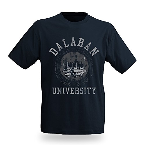 World of Warcraft - Daralan University T-Shirt - Girocollo con stampa - Blu - S