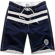 JiaMeng Hombre Pantalones Cortos de Playa Secado Rápido Moda Casual Color Colisión Patchwork Playa Surf Pantalones
