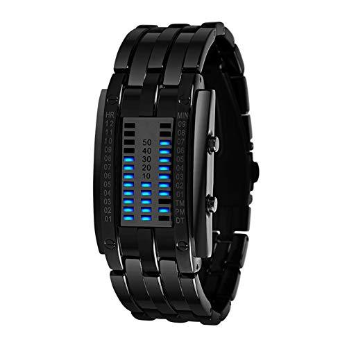 Luxus-Edelstahlband für Herren, Digitales LED-Armband Modisch Leicht zu verwenden
