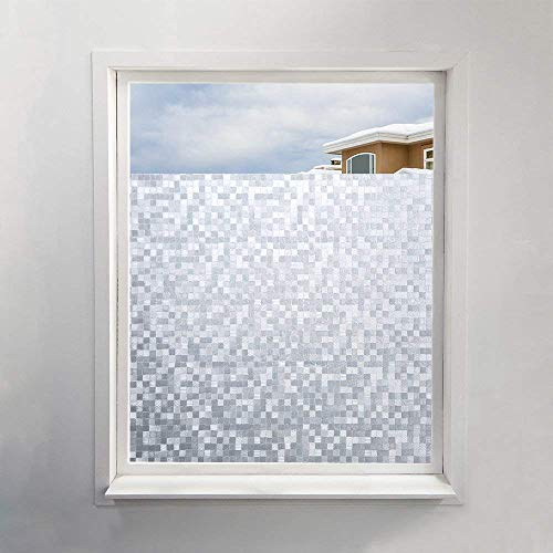 fancy-fix selbsthaftende Fensterfolie mit dekorativem Kachel-Mosaik Muster – statische Sonnenschutzfolie - UV-Schutz & Sichtschutz - 40x150cm