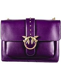 Pinko Borsa a Tracolla in Pelle Donna MOD. 1P216TY4YMJ0900001 Big Love  Simply Tracolla Purple 9ed3252a6c1