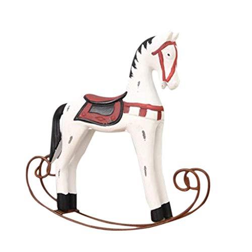 Tubayia Kreative Holz Schaukelpferd Pferd Figuren Tischdeko Dekofigur Ornamente für Weihnachten Hochzeit Café -