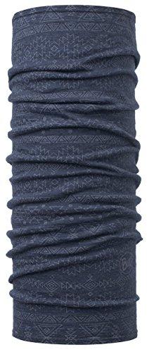 SET - BUFF® WOOL Patterned & Dyed Stripes Schlauchtuch + UP® Ultrapower Schlauchtuch | Gefärbte Merinowolle | Nackenwärmer | Schal | Kopftuch | Halstuch | Multituch, Buff Design:EDGY DENIM - 115399.788.10.00 (Gefärbte Denim)