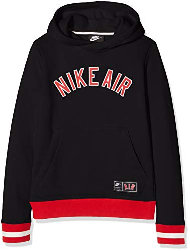 Nike Jungen B NK AIR SSNL FLC TOP Long Sleeved T-Shirt, Black/University Red, XL - Nike Vintage Shirts