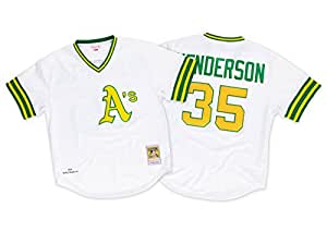 Rickey Henderson Oakland Athletics Mitchell & Ness Authentic 1979 Home Jersey Maillot