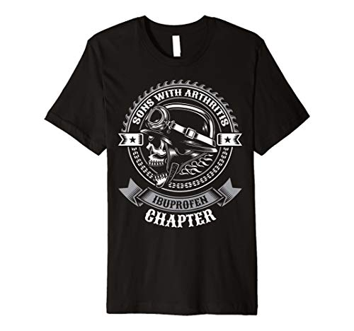 Print T-shirt (Sons mit Arthritis-Ibuprofen Kapitel Funny Biker T-Shirt)
