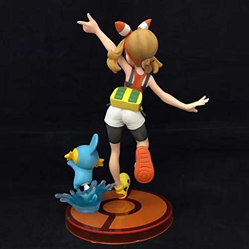 HBJP Jouet Statue Pokemon Jouet Modèle Cartoon Personnages  Artisanat/Décorations/Xiaoyao/Eau Saut Poisson 15CM Modèle