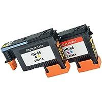 Komada 1Set Compatible de repuesto para impresora HP88(1BK/y + 1C/M) cabezal de impresión compatible con HP K550K5400K8600L550L580L650L7000L7400L7480L7550L7555L7580impresora.