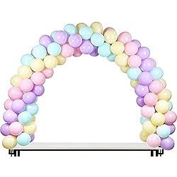 LANGXUN Kit de Arco de Globo Negro, Kit de Arco de Arco semicircular de Globo 2 Clips Ajustables para Diferentes tamaños de Mesa para Bodas de cumpleaños y Fiestas de graduación