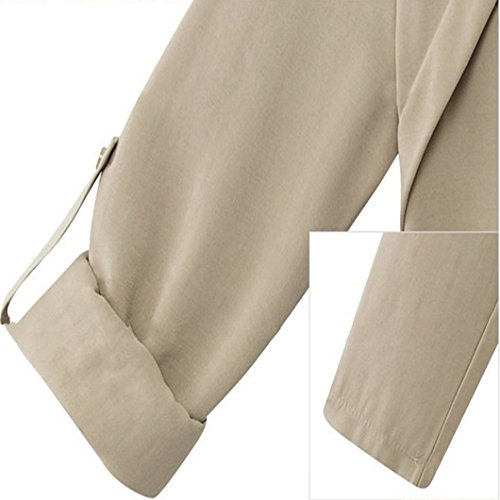 URqueen Women's Fashion Jacket Loose Fit Outwear Open Front Coat Beige