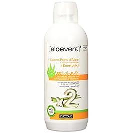 Zuccari Aloevera 2 Succo Puro d'Aloe e Enertonici, 1000 ml