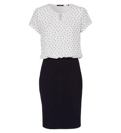 zero Damen Kleid mit Ankerprint 413023 offwhite 36