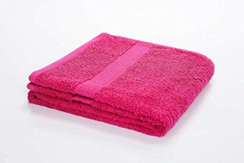 4 tlg. etérea Duschtuch Sparset in Pink, schwere flauschige (gekämmte Baumwolle) 500 g/m² Qualität, 70x140 - Muster Handtuch-set