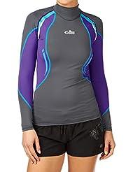 Gill Womens UV Sport L/S Rash Vest Ash/Purple 4420W