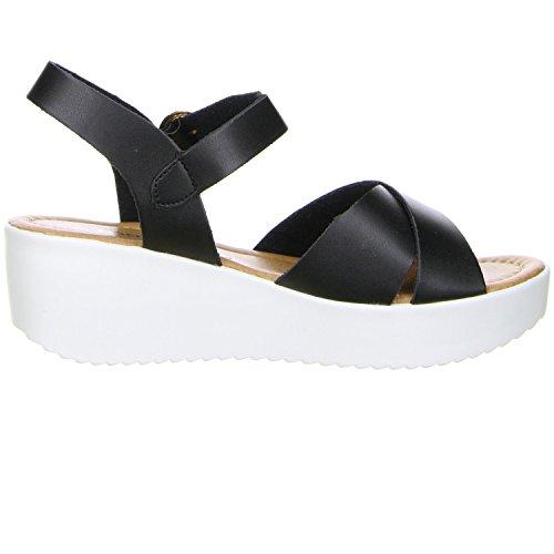 TOPWAY Damen Sandaletten schwarz Schwarz