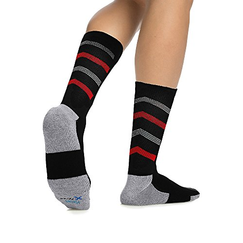 Von Men's Big & Tall X-Temp Active Cool Crew Socken 3-Pack_Black Assorted_12-14 (Big And Tall Crew Socken)